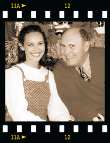 Melinda with Willard Scott